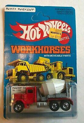 Hot Wheels 1979 Peterbilt Cement Mixer Workhorse Mint on Card Hong Kong