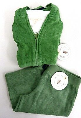 Burts Bees Girls 3 Piece Terry Cloth Hoodie Shorts And Shirt Set Size 6Y