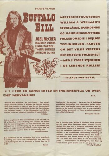 Buffalo Bill Joel McCrea Maureen O