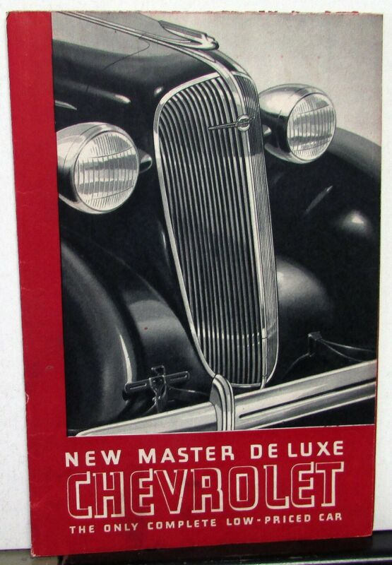 1936 Chevrolet Master Deluxe With Knee Action Sales Brochure Folder Original