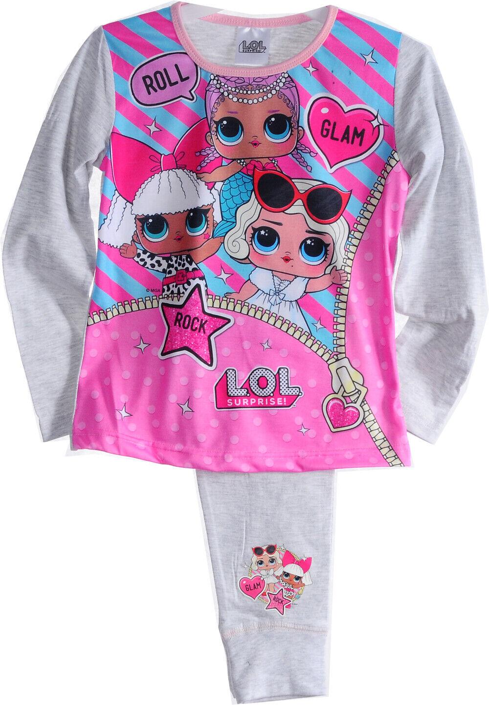 LOL Surprise Kinder Pyjama SET SCHLAFANZUG Hose Shirt 110 116 122 128 134 140