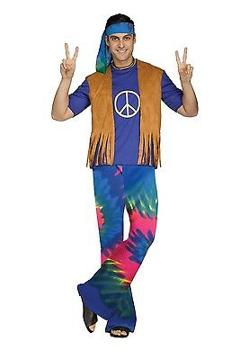 Groovy Guy Hippie 60's Adult Costume, One Size (Groovy Guy Kostüme)