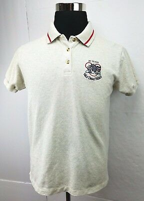 Mickey Inc Walt Disney World 25 Years Of Magic Polo Shirt L Gray Men's Size: M