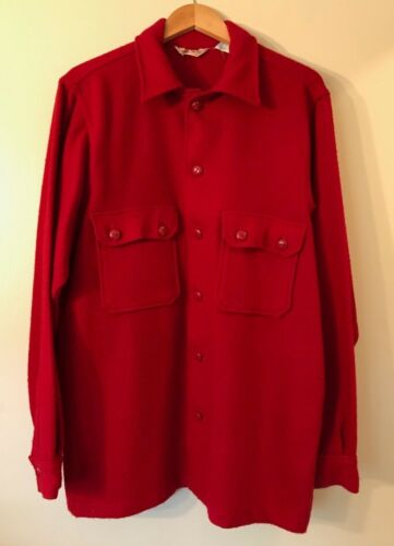 Vintage Boy Scout BSA Red Wool Jacket - Size 44 - Excellent Used Condition!
