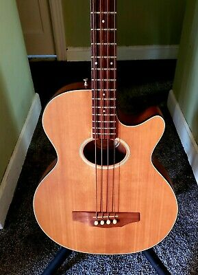 Guild USA B4-CE Cutaway 4-String Acoustic/Electric Bass Guitar w/OHSC