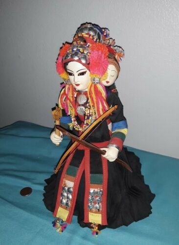 """Made in Thailand MOTHER & BABY Doll HANDMADE BY YOUTHANA 10"""" Tall"""