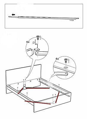 IKEA # 117228 Cross Brace for most of IKEAs Bed frames