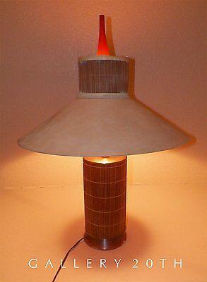 RARE! MID CENTURY MODERN TIKI LAMP! 50'S ROBSJOHN GIBBINGS EAMES 40'S ATOMIC VTG
