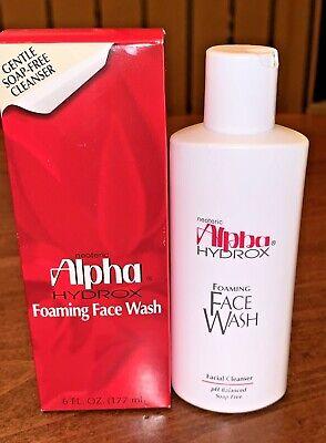 ALPHA HYDROX Foaming Face Wash - gentle soap free cleanser 6 oz