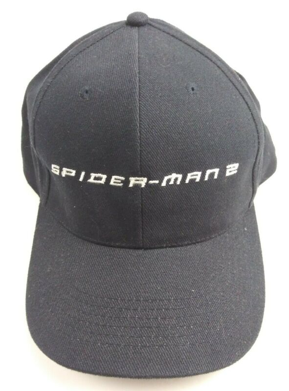 2004 Spider-Man 2 Official Movie Promo Embroidered Black strapback Hat