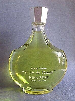 L'Air du Temps Lalique Signed Glass Perfume Bottle DISPLAY FACTICE DUMMY 15 oz