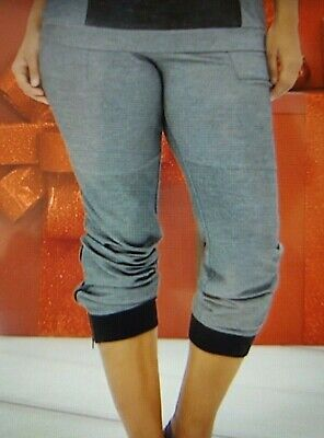 OFF AIR by Giuliana Side Zip Jogger Pants HEATHER CHARCOAL Gray 443487 MEDIUM Air Side Zip