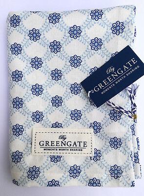 Geschirrtuch Tea Towel Green Gate Lolly blue Streifen Shabby Vintage 100%BW Vintage Tea Towel
