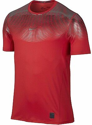 Nike Hypercool Max Metalized Training Top Shirt SIZE L $80 RED