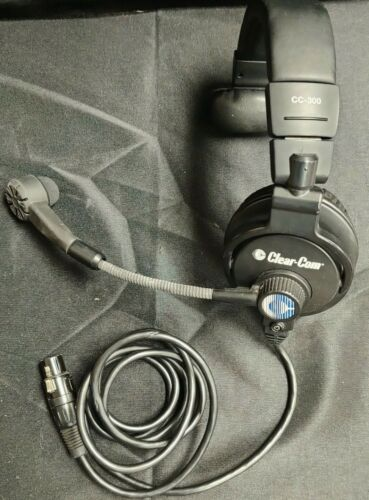 Clear-Com CC-300-X4 Single Ear Closed-Back Hyper-Cardioid Headset w/ Mic (4-PIN)