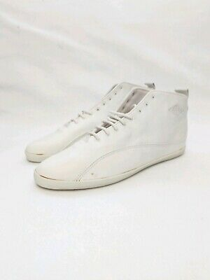 Vtg 90s LA Gear White Lace Up Casual Leather Sneakers Womens Sz 10