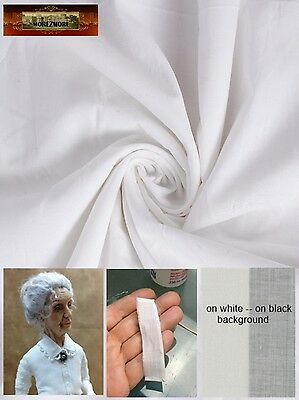 M01297 MOREZMORE Victorian Cotton Thin Voile Fabric Doll Clothes White FQ A60