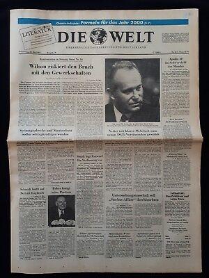 DIE WELT TAGESZEITUNG vom * 22. Mai 1969 * (RAUMFAHRT, Apollo 10) B 161
