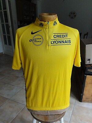 Maillot cycliste NIKE Jaune du Tour de France 2001 Crédit Lyonnais -...