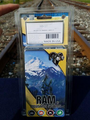 Ram Mounts RAM-107 1.5-Inch Ball Marine Electronic Mount, Bl