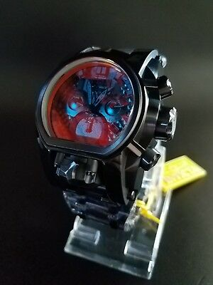 Invicta Stealth Combat Black Color Tinted Crystal Bolt Zeus Magnum Watch 2 Dials