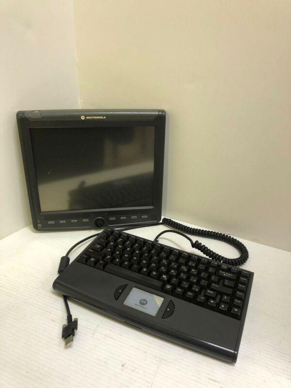 Motorola Police Car Monitor and Keyboard FLN3774A / FLN3673A Ships Immediately!