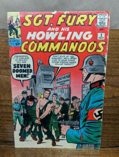 SGT FURY & HIS HOWLING COMMANDOS #2 (Marvel 1963) Stan Lee Jack Kirby