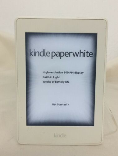 Amazon Kindle Paperwhite 3 (7th Generation) 300 PPI 4GB Wi-Fi - White 47-4A