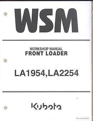 Kubota La1954 La2252 Front Loader Workshop Manual