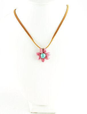 Floral Vintage Elegant Wire Wrap Stone Flower Necklace ()