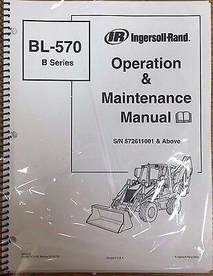 Bobcat Bl570 Backhoe Loader Operation Maintenance Manual Owners 6902606