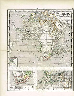 Karte von AFRIKA, Original-Graphik 1876