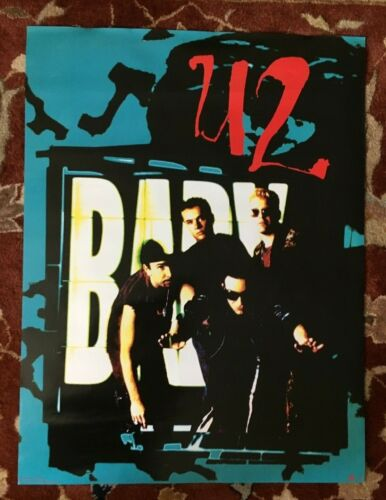 U2  Achtung Baby  rare original promotional poster from 1992