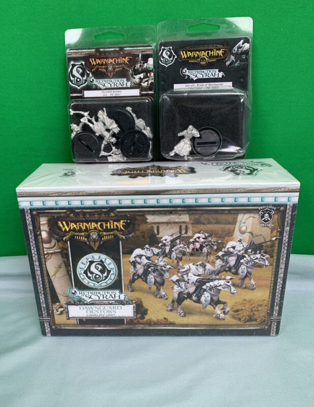 Warmachine Retribution Of Scyrah Dawnguard Destors, Stormfall Archers, Garryth