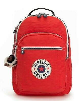 Kipling CLAS SEOUL Backpack with Laptop Compartment - Active Red Bl