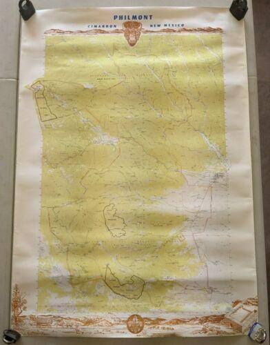 1979 PHIMONT Boy Scout Ranch Map - Cimarron New Mexico - 39.5 x 28 BSA