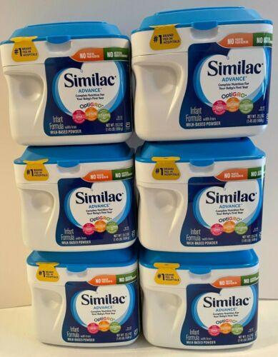 (6) Similac Advance Optigro Infant Formula 1.45lb / 23.2 oz each (8.7 lbs Total)
