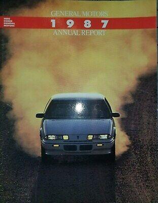 1987 GM General Motors Annual Report Brochure