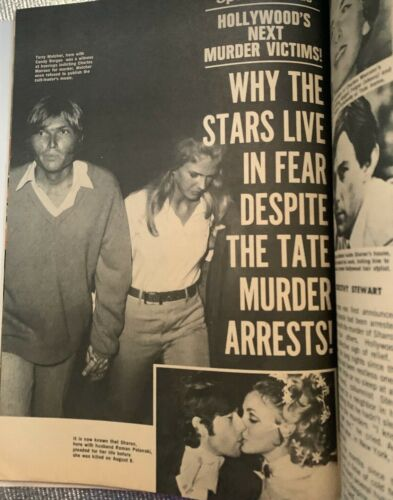Sharon Tate - 10050 Cielo Drive - 1970 Movie Mirror Magazine  - Jay Sebring