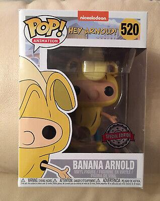 Funko POP! Vinyl Hey Arnold Banana Arnold 520 Figure Special Edition UK RARE