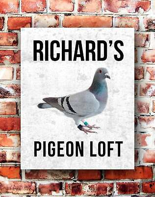 Personalised Pigeon Loft Sign Makes Great Xmas Birthday Gift