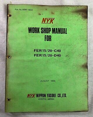 Nyk Fer 1520-c40d40 Electric Fork Lift Truck Factory Service Shop Manual