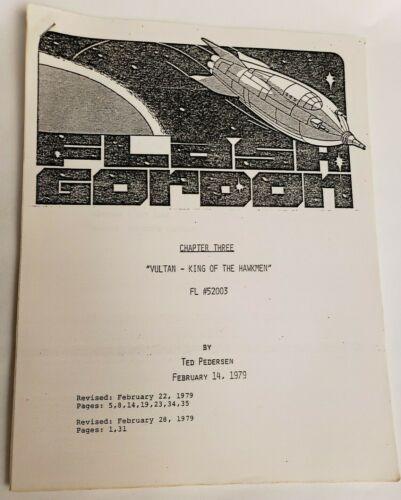 "FLASH GORDON / Ted Pedersen 1979 Script ""Chapter 3: Vultan, King of the Hawkmen"""