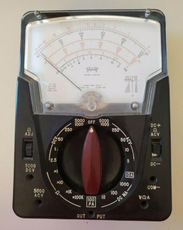 Triplett Model 630-PL Vintage Classic Analog Volt-Ohm milliammeter