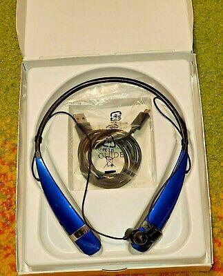 GENUINE LG Tone Pro HBS-760 Wireless Headphones BLUE Bluetooth Phone Headset