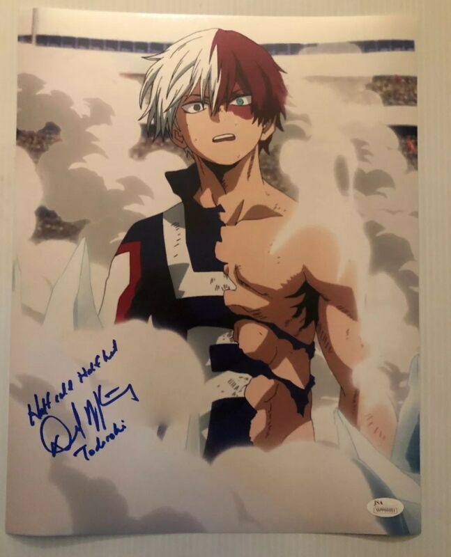 David Matranga Signed Autographed 11x14 Photo TODOROKI My Hero Academia JSA COA2