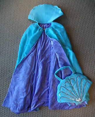 Chasing Fireflies Costumes Halloween (CHASING FIREFLIES GIRL Seashell Mermaid Cape & Bag Costume 8 10 12 Yrs)