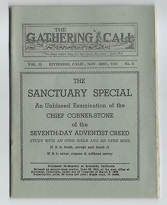 1937 Booklet, The Gathering Call - Criticism Of Seventh Day Adventist Church