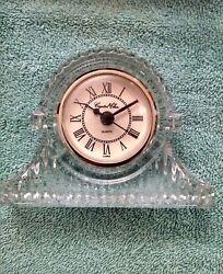 3-1/2 Regal Mantle Clock, QUARTZ, by Crystal Clear in Original Gift Box
