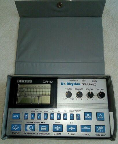 Boss Dr. Rhythm Graphic DR - 110 Analogue Drum Machine Inc Case, Adaptor & Plug